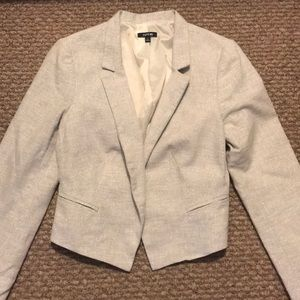 White and silver sparkle blazer from Apt.9
